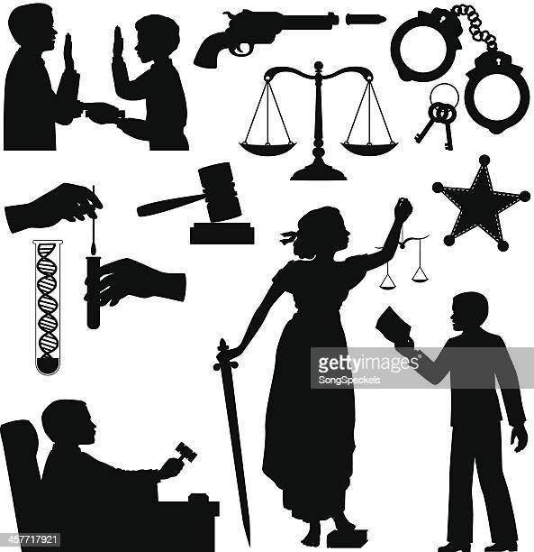 Criminal Justice Silhouettes
