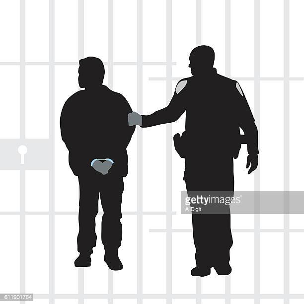 criminals do the time - arrest stock illustrations, clip art, cartoons, & icons