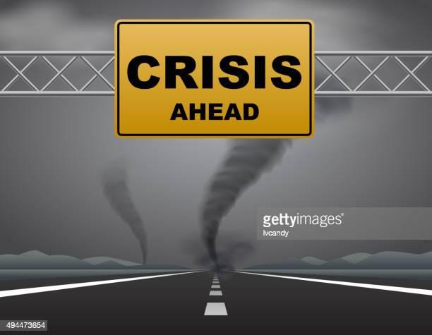 crisis ahead - warning labels stock illustrations, clip art, cartoons, & icons
