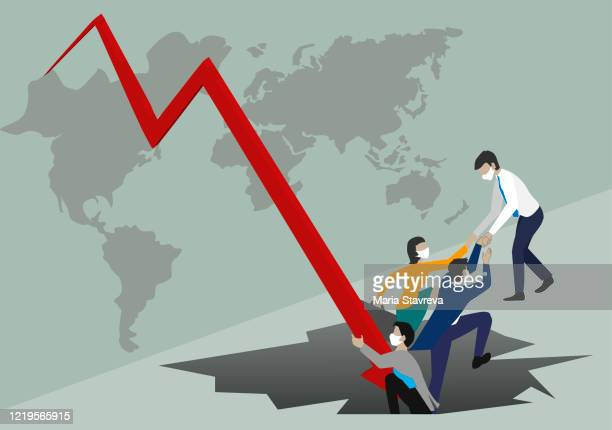 crisis and solution concept. safely though the crisis - initiative stock illustrations