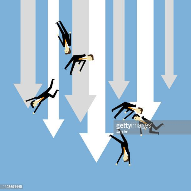 crisis financial - out of business stock illustrations, clip art, cartoons, & icons