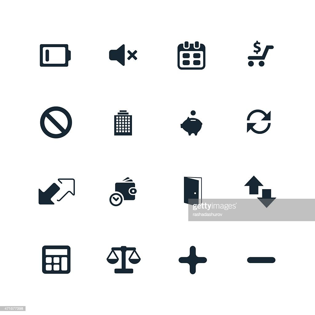 crisis icons set