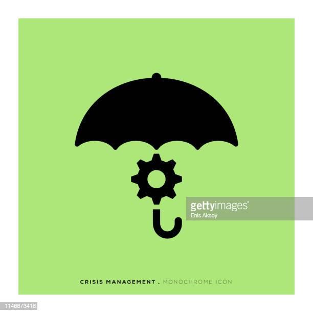 crisis management monochrome icon - risk stock illustrations