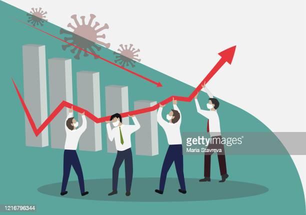 crisis management, teamwork concept - epidemic stock illustrations