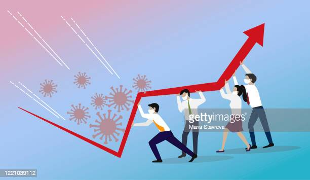 illustrazioni stock, clip art, cartoni animati e icone di tendenza di crisis management, teamwork concept. - crisi