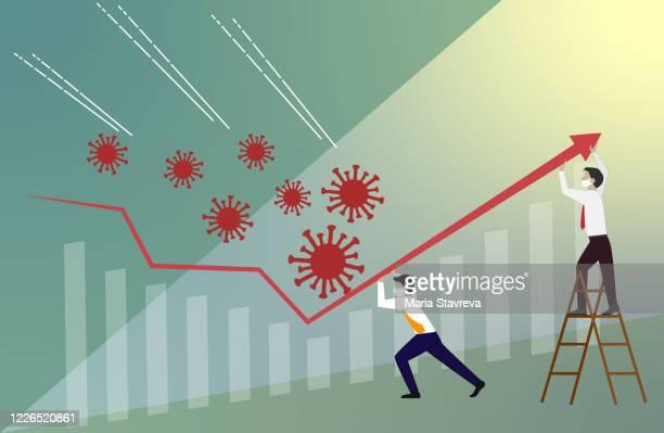 crisis management, teamwork concept vector. - inflation stock illustrations