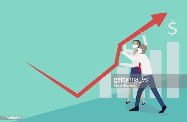 crisis management. - inflation stock illustrations