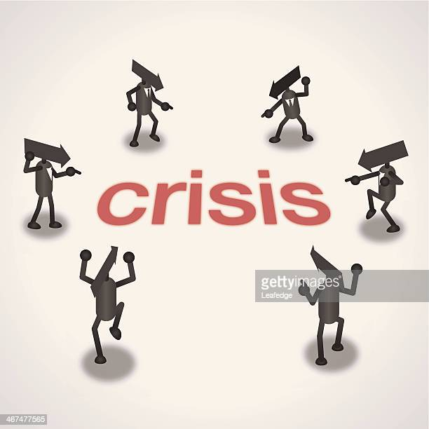 crisis - figurine stock illustrations, clip art, cartoons, & icons