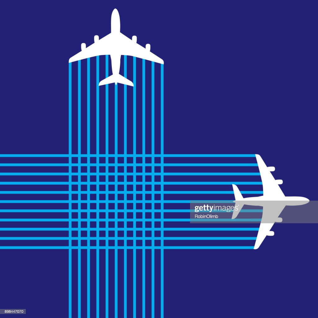 Criss Crossing Airplanes : stock illustration