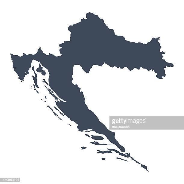 ilustrações, clipart, desenhos animados e ícones de croácia país mapa - croácia