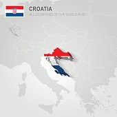 Croatia. Europe administrative map.