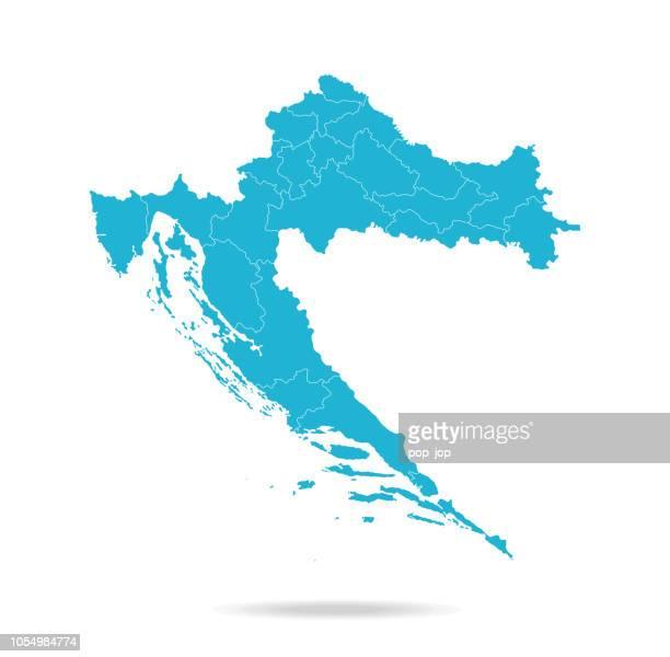 stockillustraties, clipart, cartoons en iconen met 40 - kroatië - lava blauwe lege q10 - kroatië