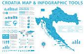 Croatia Map - Info Graphic Vector Illustration