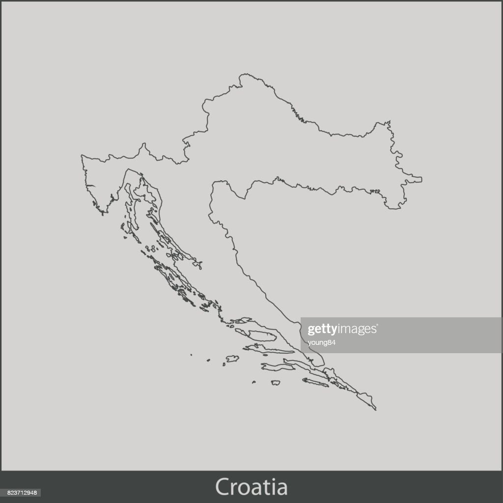 Croatia Map Vector Art   Getty Images