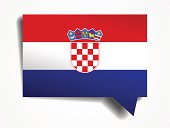 Croatia - paper 3d realistic speech bubble