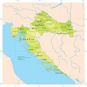 Croatia Vector Map