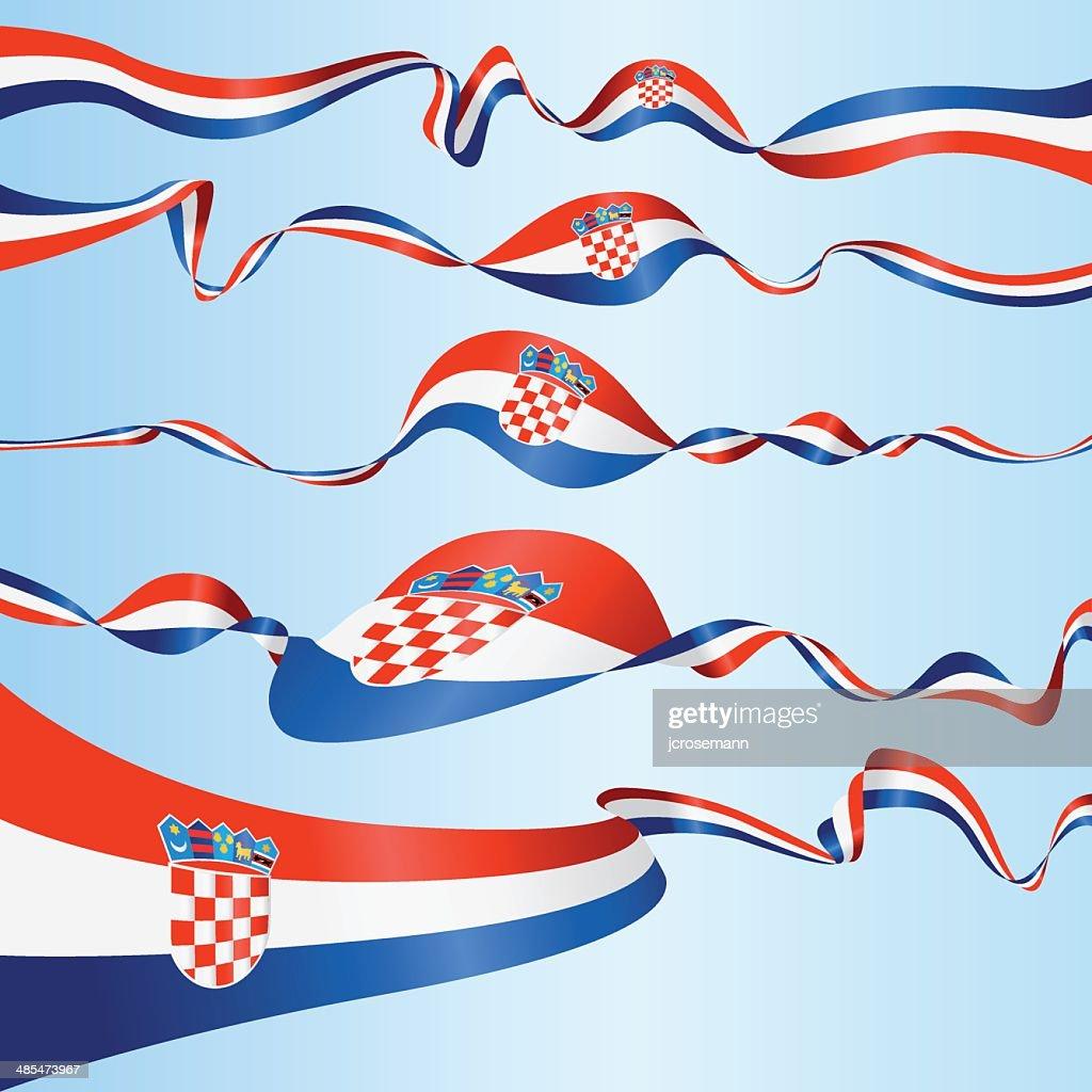 Croatian Banners : stock illustration