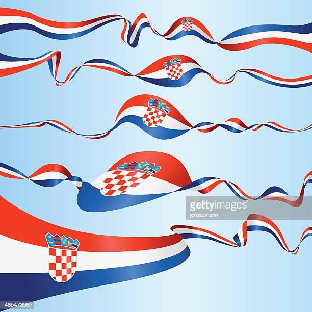 croatian banners - croatian flag stock illustrations, clip art, cartoons, & icons