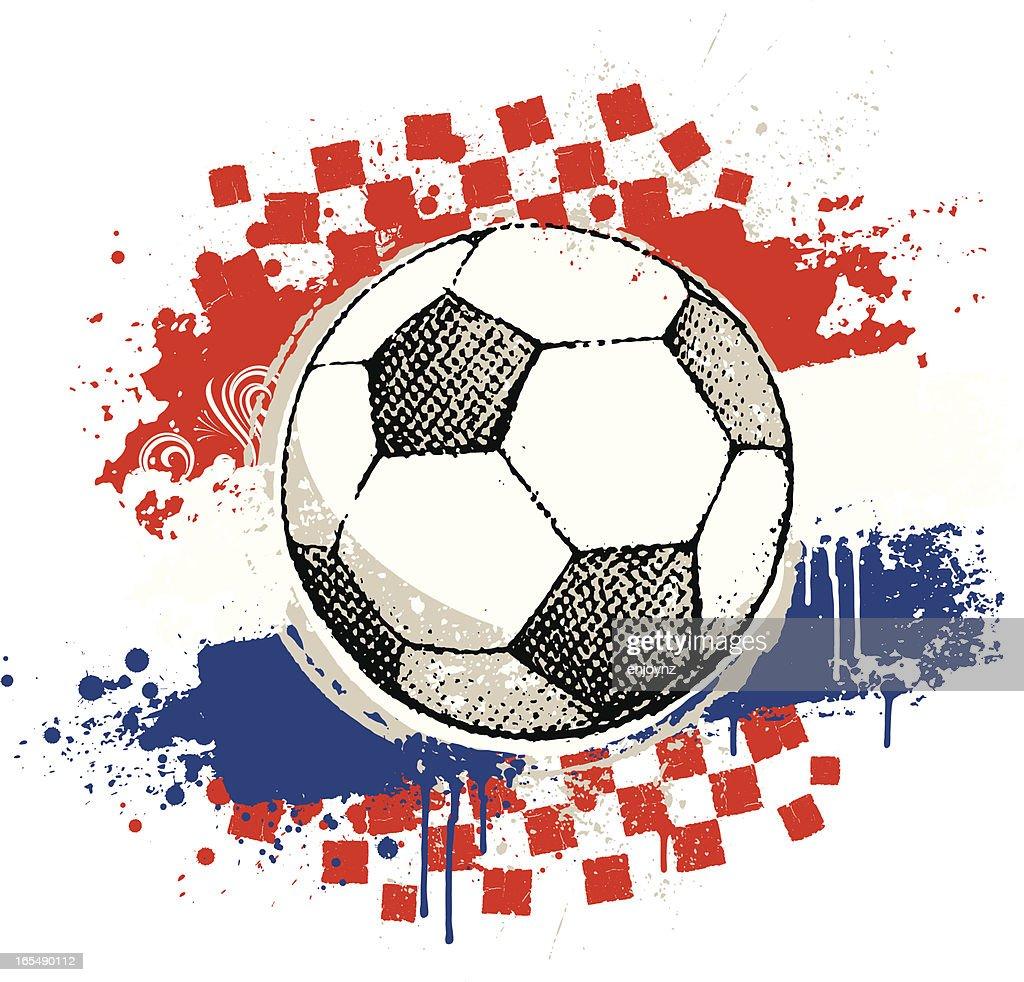 Croatian Football : stock illustration
