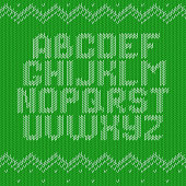 Crochet font knitted ornament
