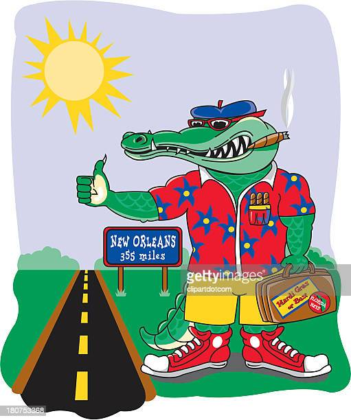 Crocodile Hitchhiking to New Orleans