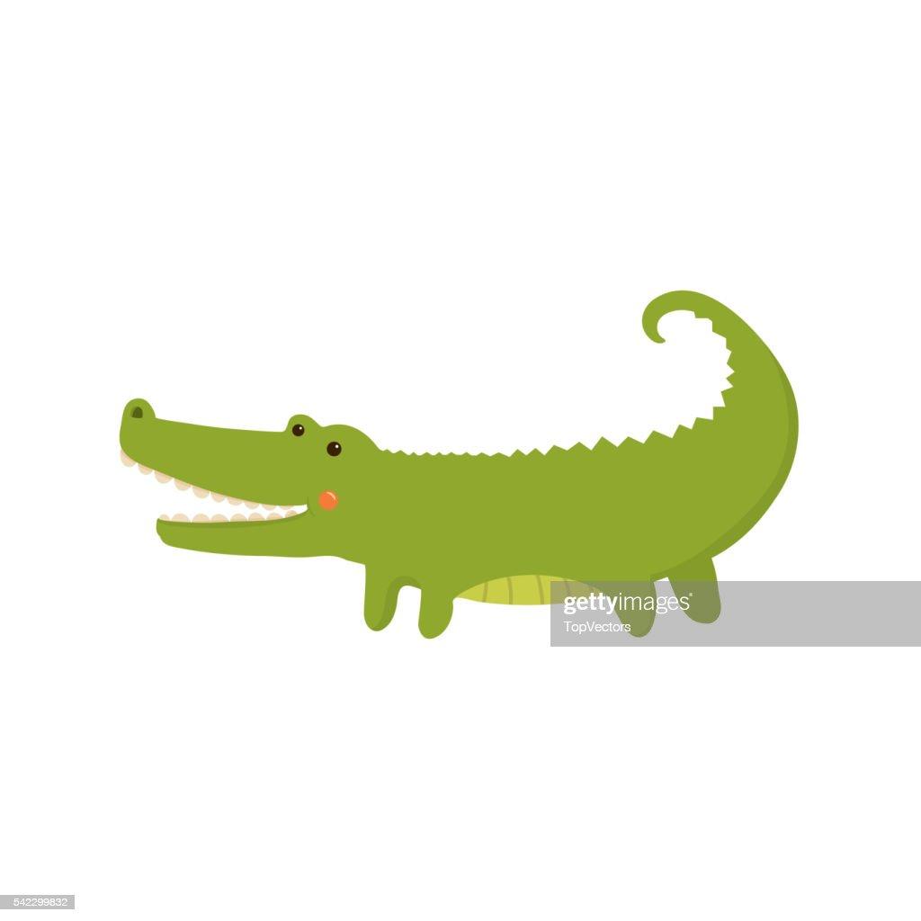Crocodile Realistic Childish Illustration