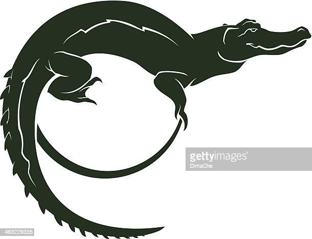 crocodile symbol - alligator stock illustrations, clip art, cartoons, & icons