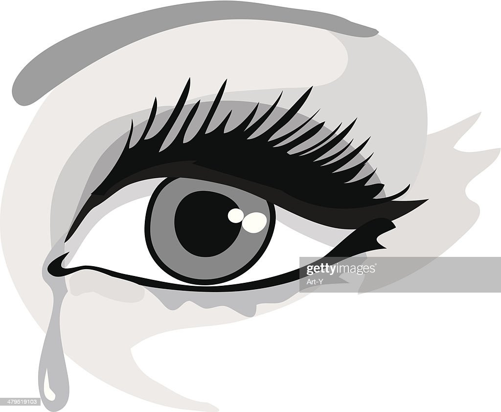 Crocodile tear : stock illustration