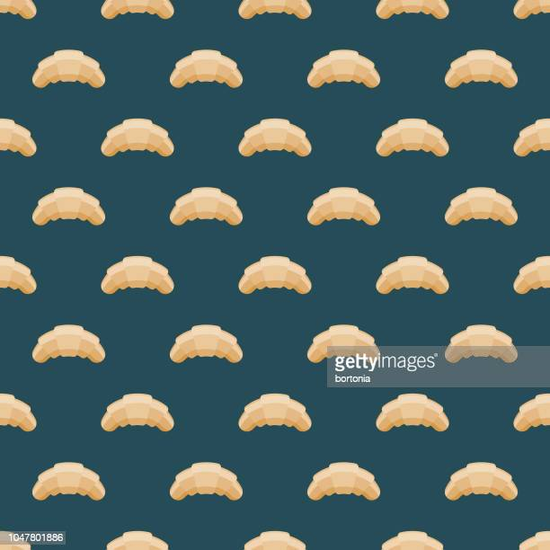 croissant french seamless pattern - french culture stock illustrations