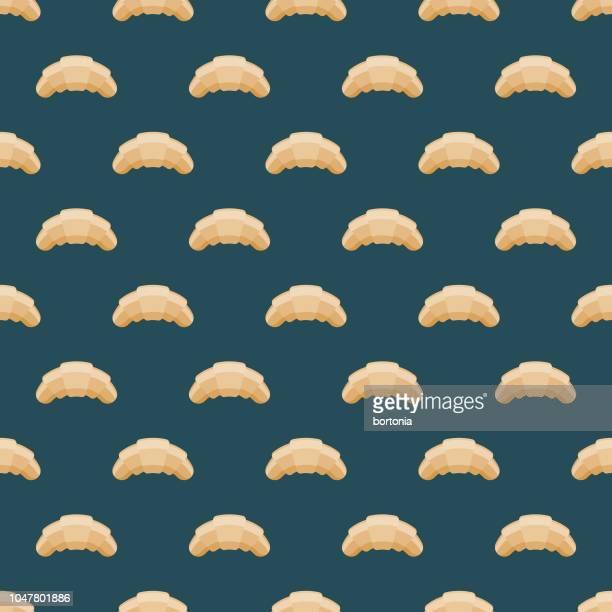 ilustrações, clipart, desenhos animados e ícones de croissant francês padrão sem emenda - croassão