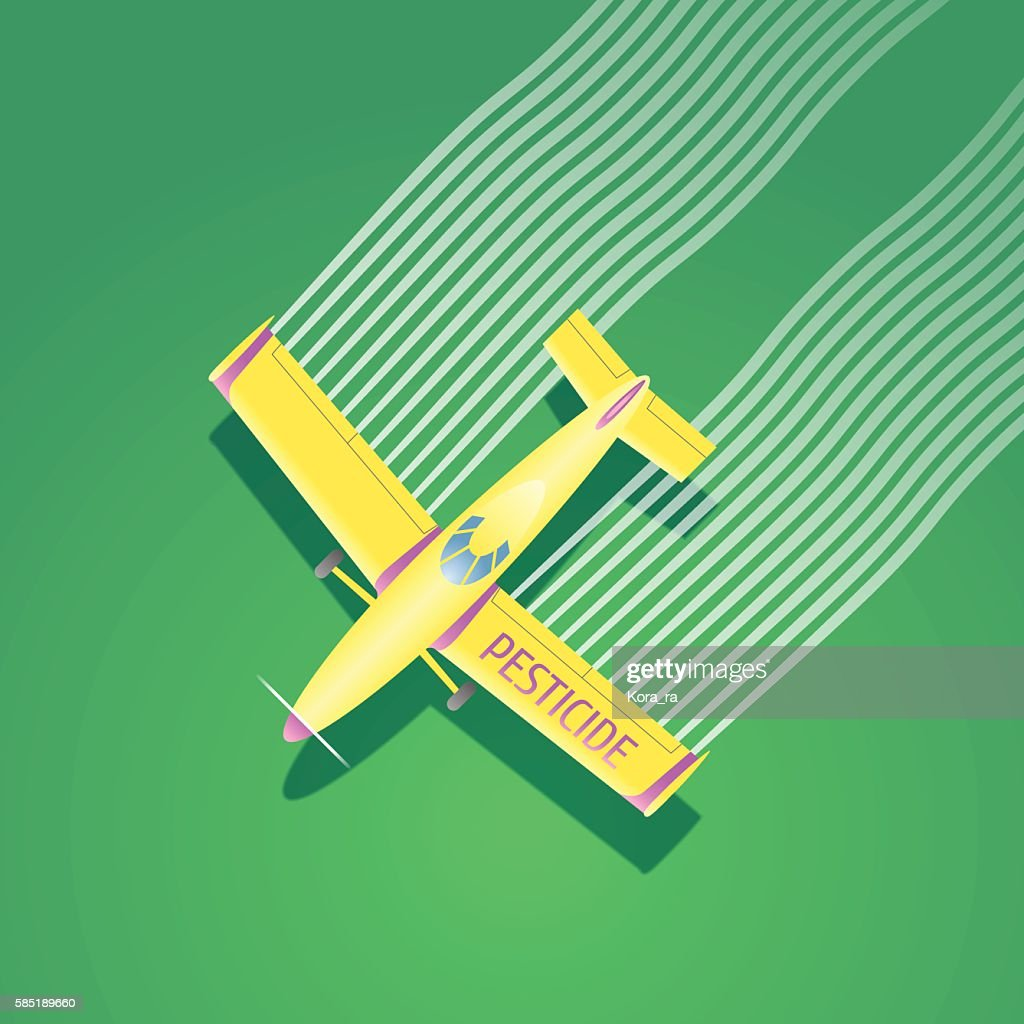 Crop duster plane vector illustration