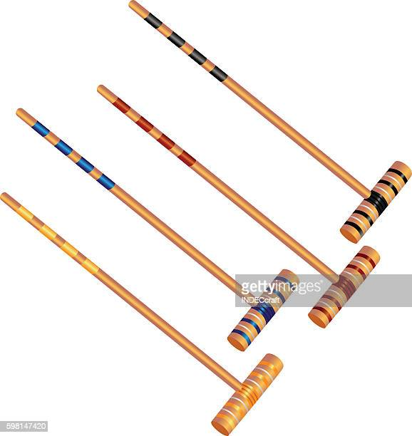 croquet mallet - mallet hand tool stock illustrations