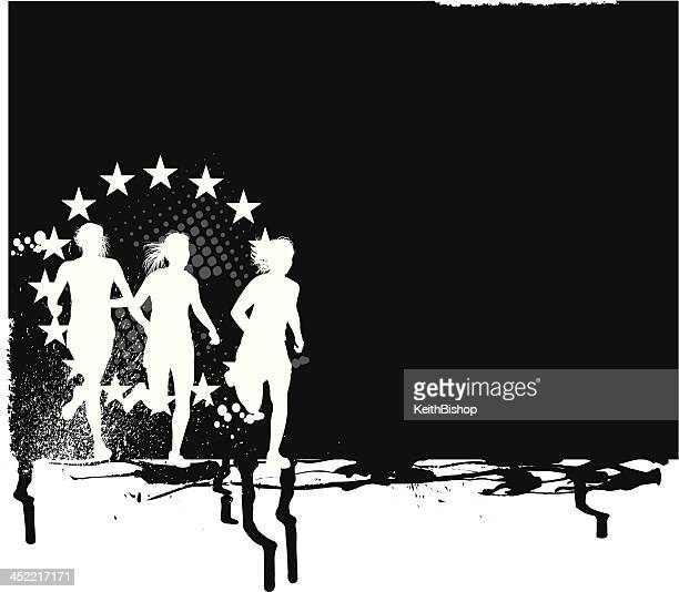Cross Country All-Star Background - Girls