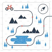 Cross country bicycle map