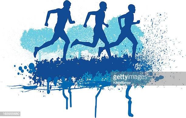 Cross Country Runners - Track Event Background