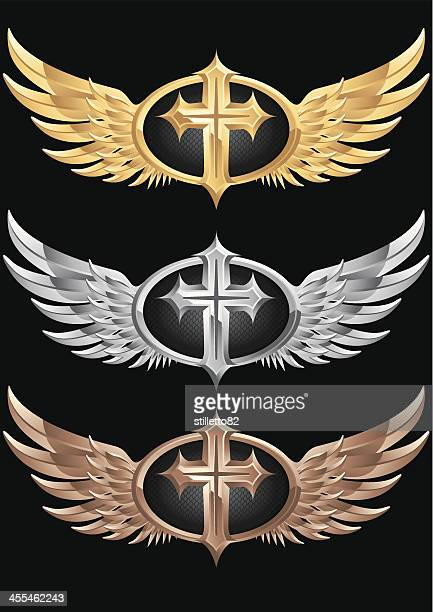 Cross Emblem with wings