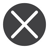 Cross glyph icon, web and mobile, delete sign vector graphics, a solid pattern on a white background, eps 10.