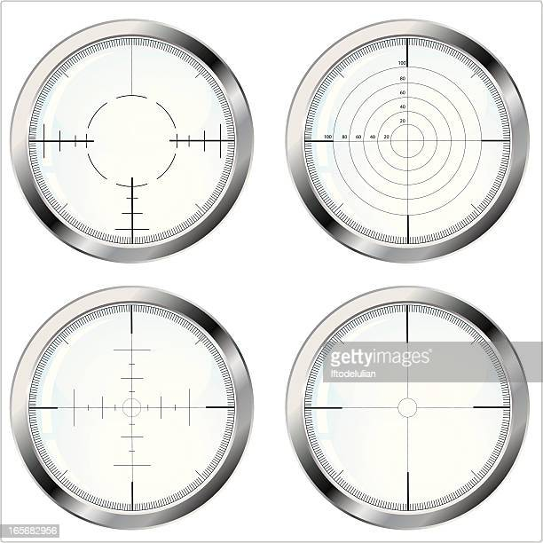 a cross hair in the focus of the eyepiece of an instrument - m14 stock illustrations, clip art, cartoons, & icons