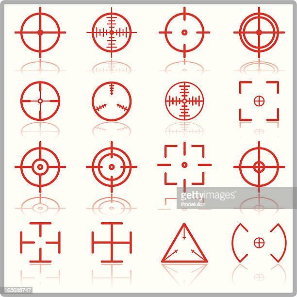 ilustrações de stock, clip art, desenhos animados e ícones de cruz cabelo - objetivo militar