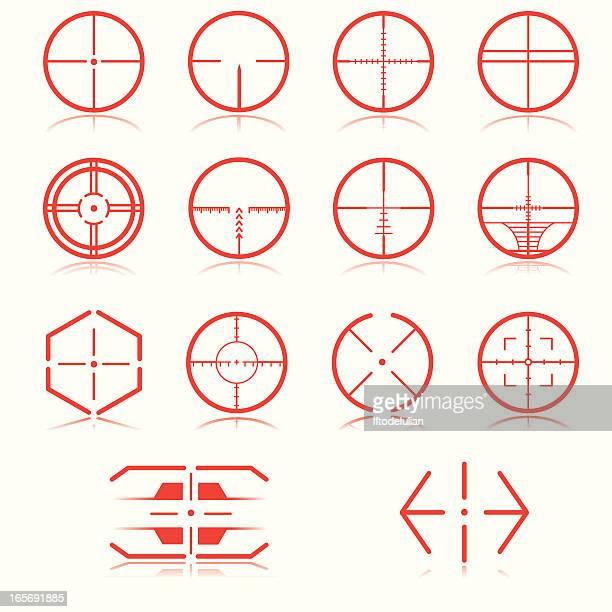 cross hair - m14 stock illustrations, clip art, cartoons, & icons