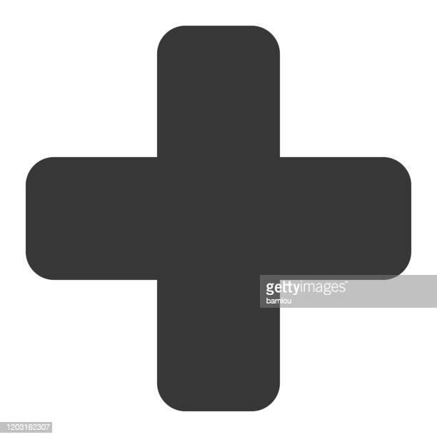 cross icon - religious cross stock illustrations