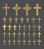 Cross icons set vector