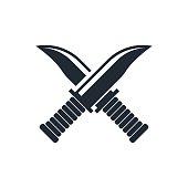 cross knife icon