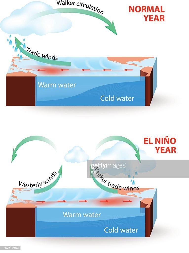Cross section of El Nino Southern Oscillation