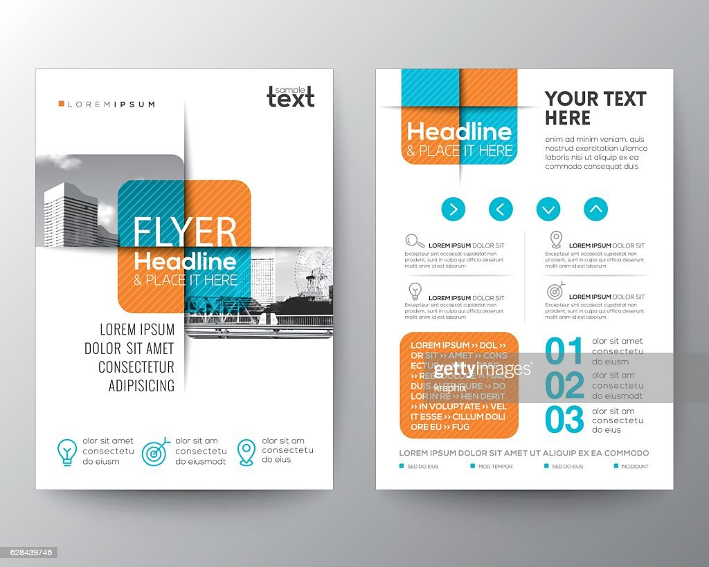 Cross square graphic element Brochure cover Flyer Poster design Layout