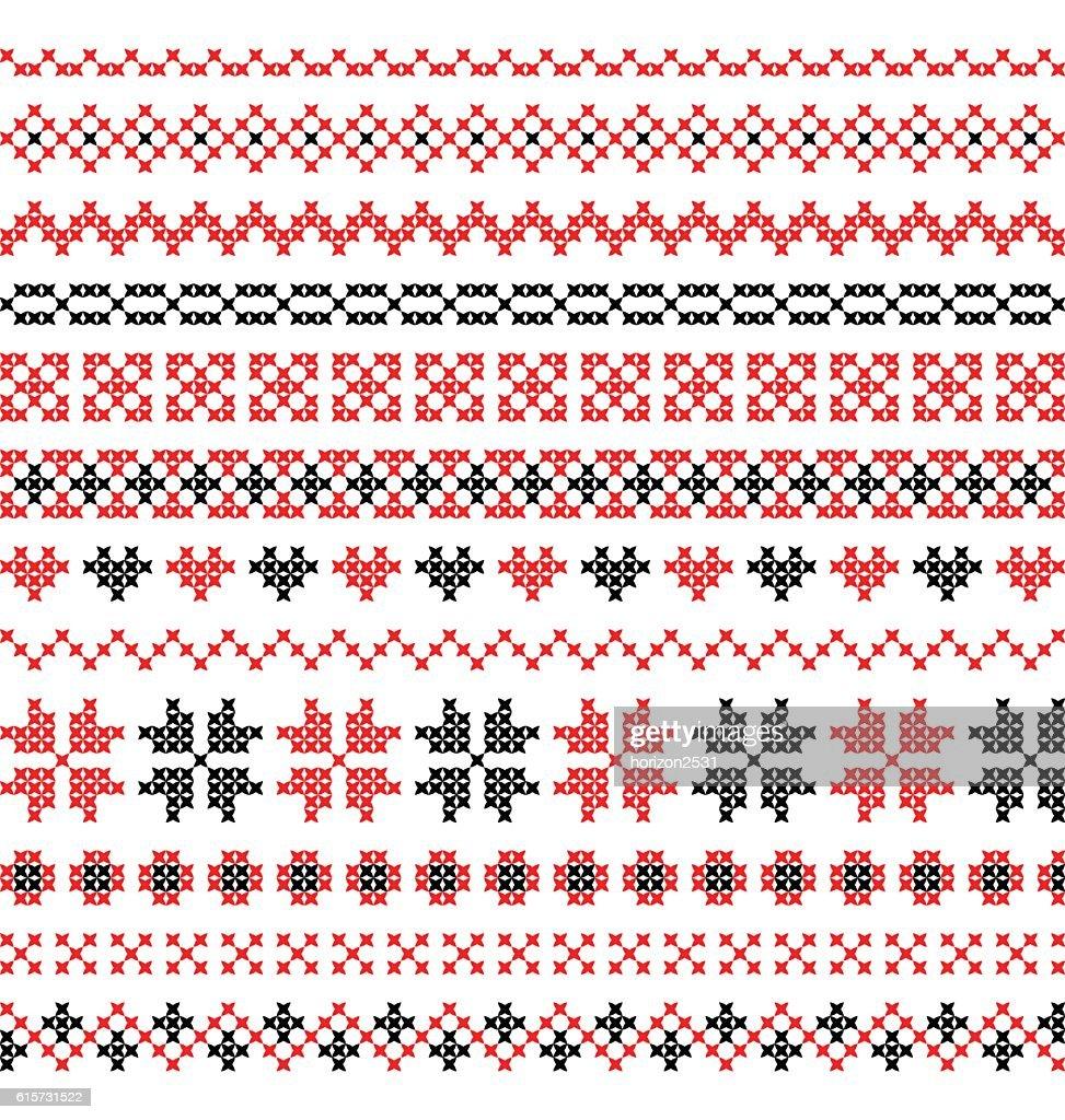 cross stitch pattern vector
