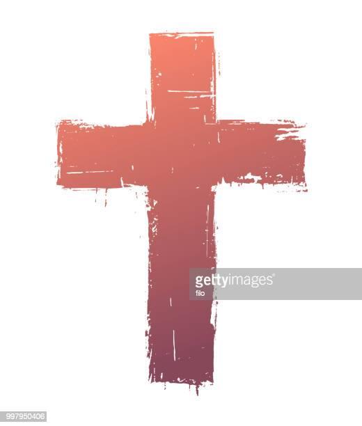 cross symbol - religious cross stock illustrations