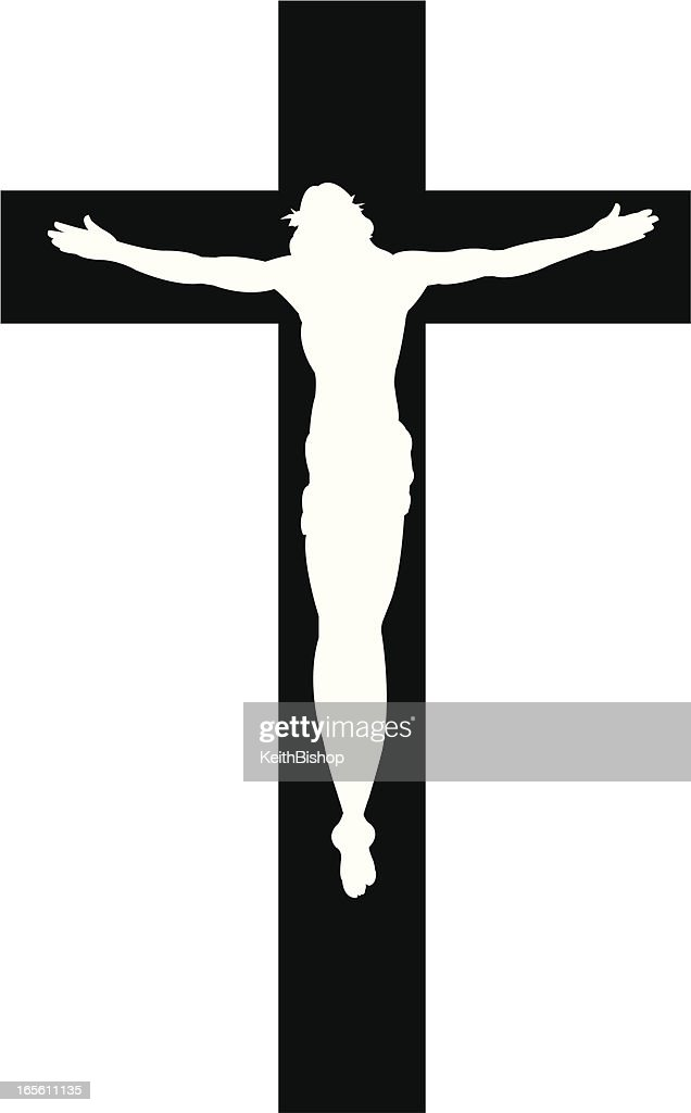 cross with jesus christ cristian religion silhouette