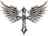 cross with wing illustration