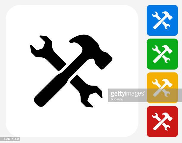 crossed hammer and wrench. - {{relatedsearchurl('county fair')}} stock illustrations, clip art, cartoons, & icons